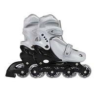 Patins Roller Infantil Ajustável Cinza