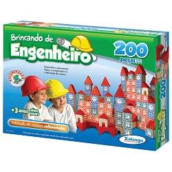 BRINCANDO ENGENHEIRO 200 PECAS