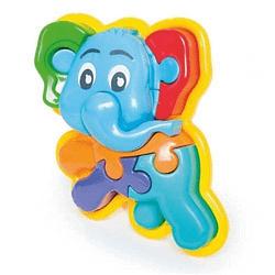 BRINQUEDO PEDAGOGICO ANIMAL PUZZLE 3D ELEFANTE