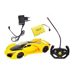 Carrinho Controle Remoto Sem Fio 114 Sport Recarregavel Amarelo