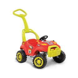 Carrinho Infantil Smart Passeio e Pedal Vermelho