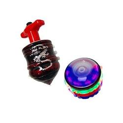 Piao Sonoro Flashing Peg Top com Luzes e Lancador e1615313537867