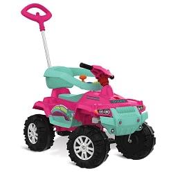 Quadriciclo Infantil Superquad Passeio e Pedal Rosa