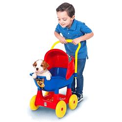 Carrinho de Passeio Azul para Filhotes