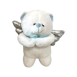 Urso de Pelúcia que Reza com Detalhe Azul