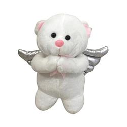 Urso de Pelúcia que Reza com Detalhe Rosa