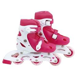 Patins Roller Infantil Rosa