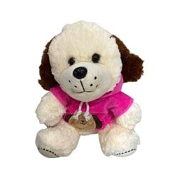 Cachorro de Pelúcia com Camiseta Rosa