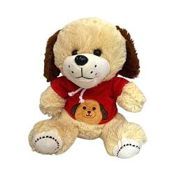 Cachorro de Pelúcia com Camiseta Vermelha