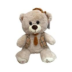 Urso de Pelúcia com Chapéu e Gravata