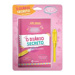 Diário Secreto com Caneta Mágica para Meninas