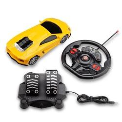 Carrinho Controle Remoto Racing Control Midnight Amarelo