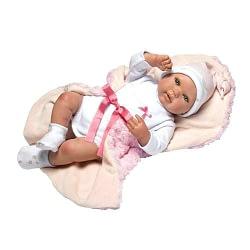 Boneca Reborn Rosa Olho Aberto
