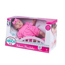 Boneca Bebê Reborn Pesadinho Coleção Ninos