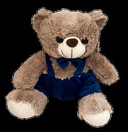 Urso de Pelucia Marrom com Macacao Azul