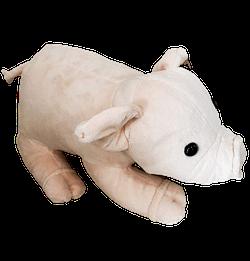 Porco de Pelucia Deitado Pequeno