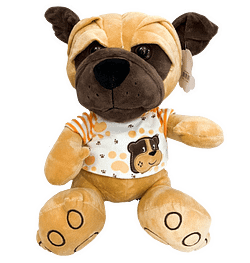 Cachorro de Pelucia com Camiseta Laranja