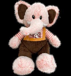 Elefante de Pelucia Rosa com Macacao
