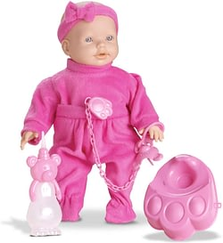 Boneca New Mini Bebê Mania Xixi Branca