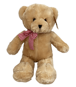 Urso de Pelucia Caramelo Laco Xadrez