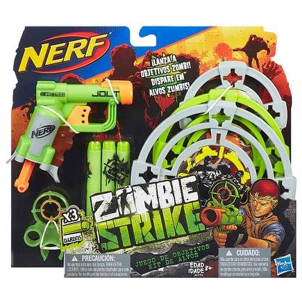 Lancadores de Dardos Nerf Zombie Strike com Kit de Alvos