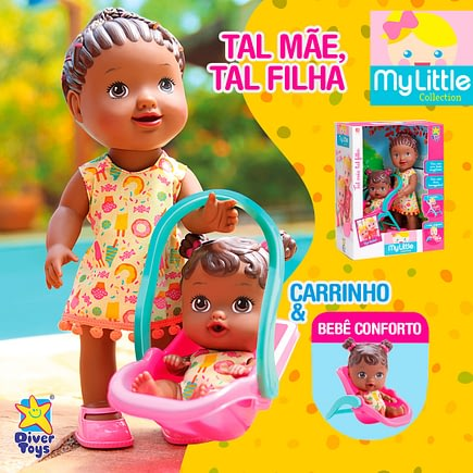 Boneca My Little Collection Tal Mãe Tal Filha Morena