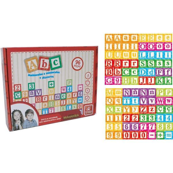 Brinquedo Educativo ABC Maiúsculas e Minúsculas 96 Peças