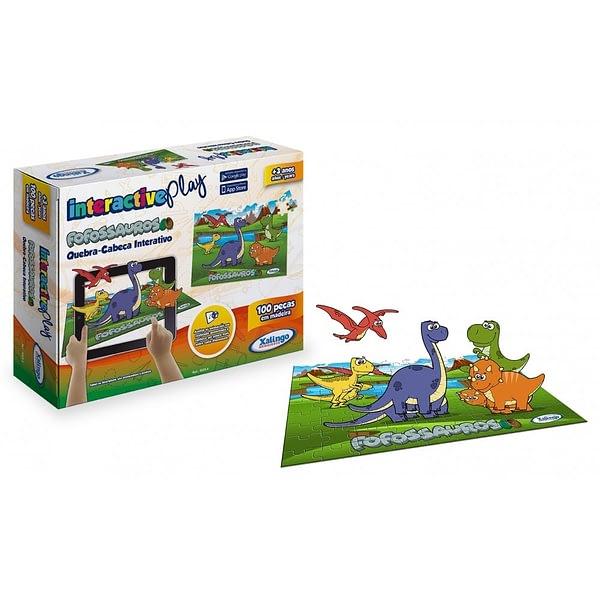 Quebra-Cabeça Interactive Play Dinossauros 100 Peças