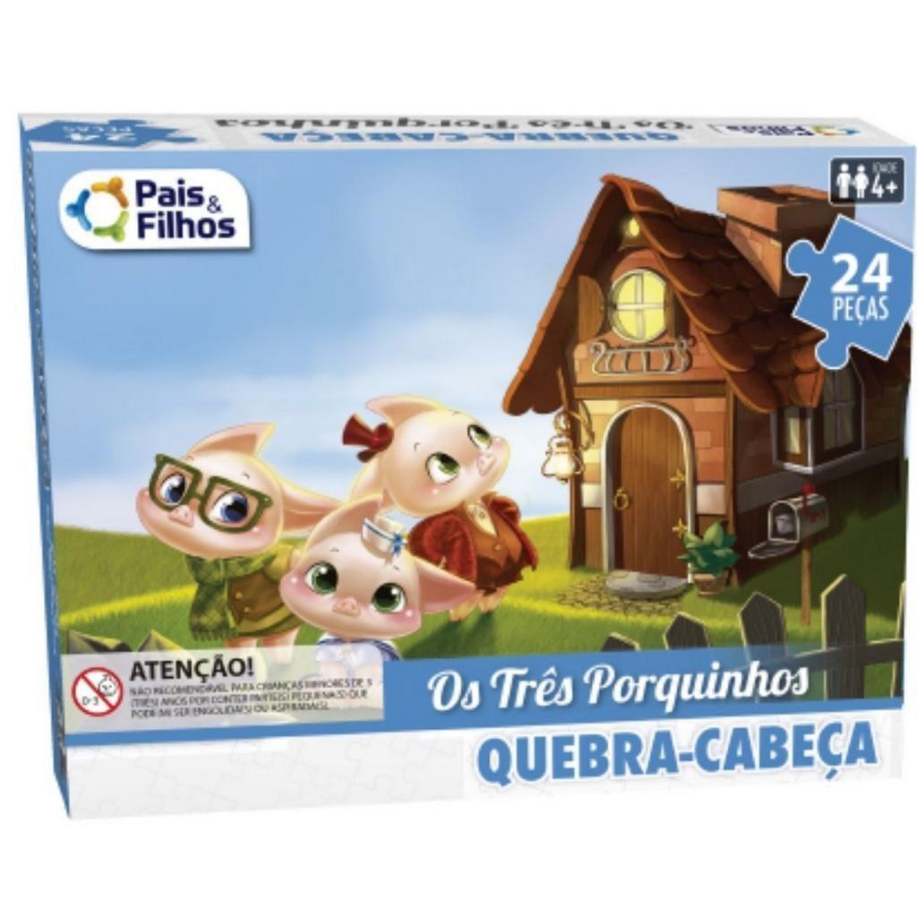 Quebra-Cabeça 3 Porquinhos 24 Peças
