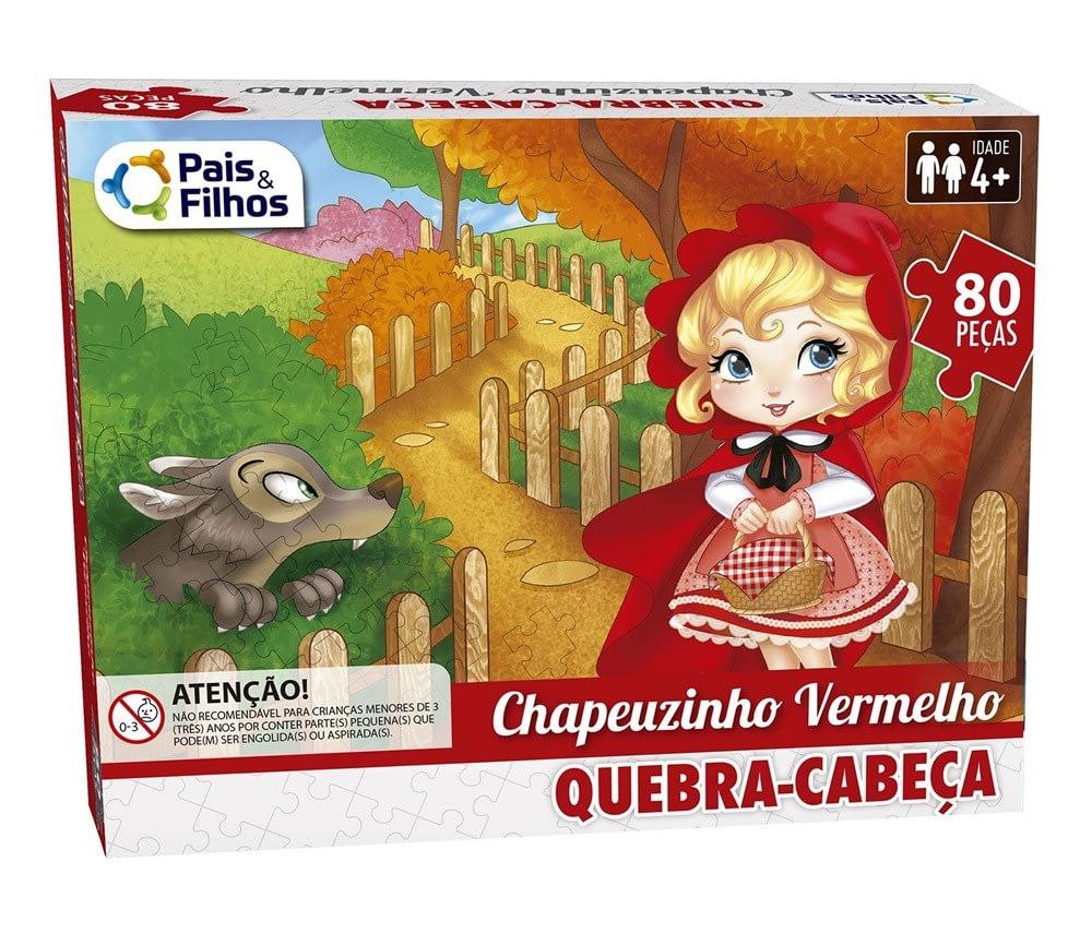 Quebra-Cabeça Chapeuzinho Vermelho 80 Peças