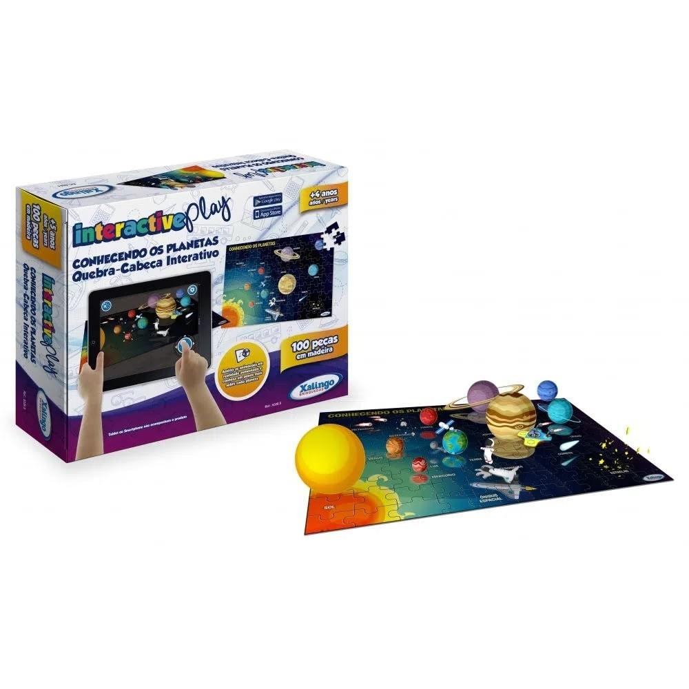 Quebra-Cabeça Interactive Play Planetas 100 Peças